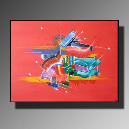 Tableau abstraction collection paradis sur terre - Tableau peinture sur toile ...